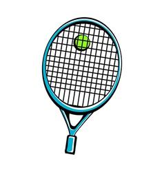 A tennis racket vector image vector image