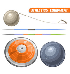 Athletics equipment vector