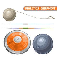 athletics equipment vector image