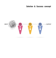 Businessman with group problem solving vector