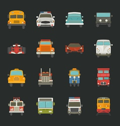 Car icons transport vector