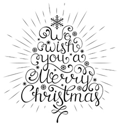 christmas wish with rays vector image vector image