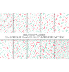 Collection of colorful children seamless patterns vector