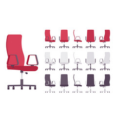 Executive office chair furniture set vector
