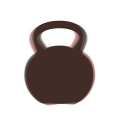 Fitness dumbbell sign colorful icon vector