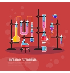Flask chemistry equipment for laboratory or lab vector
