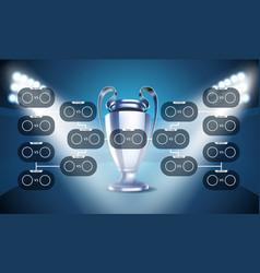 football tournament scheme football infographic vector image vector image