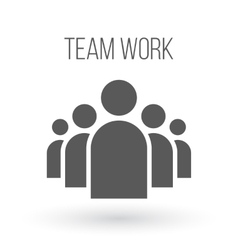 Group of people business icon team work vector