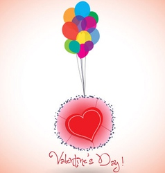Happy valentine balloons and heart vector