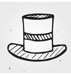 hat funnyman hand drawn vector image vector image