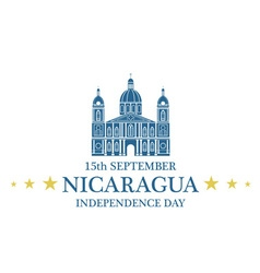 Independence Day Nicaragua vector image vector image