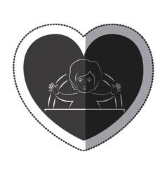 Jesus inside heart design vector
