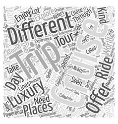 Luxury cruise word cloud concept vector