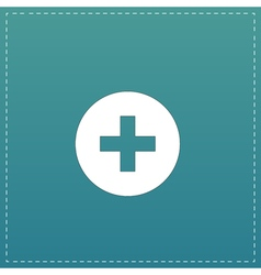 Medical cross flat icon vector