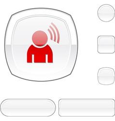 Music white button vector