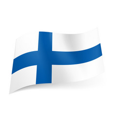 National flag of finland blue cross on white vector