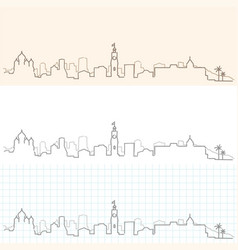 nice hand drawn skyline vector image
