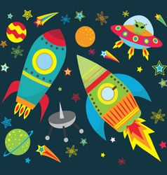 Outer space set vector