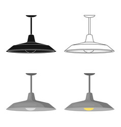 Pendant light icon in cartoon style isolated on vector