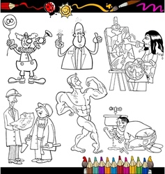 People occupations coloring page vector