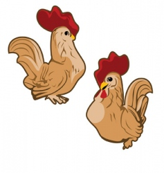 roosters vector image vector image