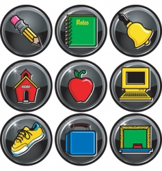 School icon buttons vector