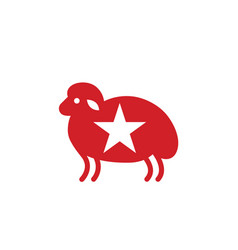 sheep stylized icon or sign template vector image