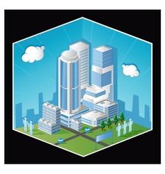 Skyscraper vector image