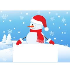snowman 4 vector image