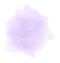 Soft violet watercolor background watercolor vector