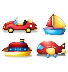 Toy set in red and yellow vector