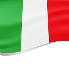 Waving flag of Italy background vector image