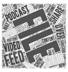 What is a podcast feed word cloud concept vector