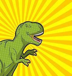 Tyrannosaurus pop art style angry prehistoric vector