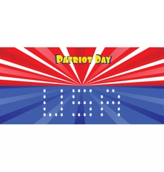 Patriot day with blue and red stripes vector
