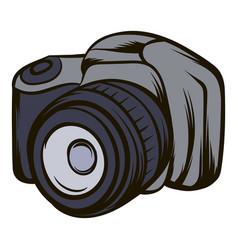 black camera icon cartoon vector image