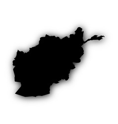 map of afghanistan with shadow vector image