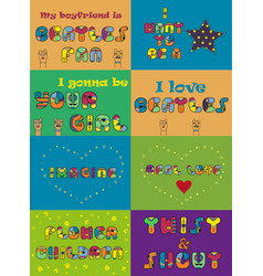 Set of funny inscriptions for cards and t-shirts vector