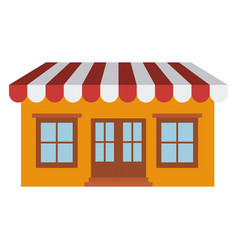 Light color silhouette of store with awning vector