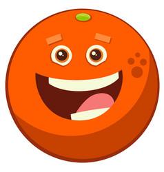 Cartoon orange fruit character vector