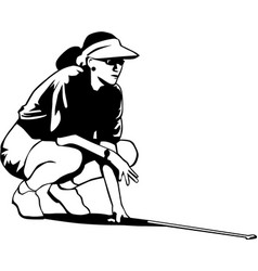 Dr00071 golf woman01 vector