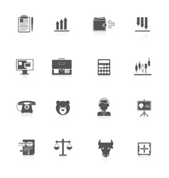 Finance exchange icons black vector