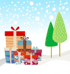 New year gifts vector