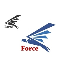 Force symbol with blue falcon vector image