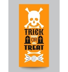 Happy halloween party card typography letters vector