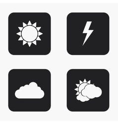 Modern weather icons set vector
