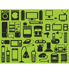 Icons appliances vector