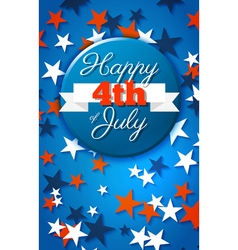Happy 4th of july card national american holiday vector
