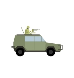 Military war car flat icon vector