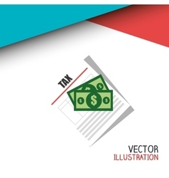 Tax time design vector